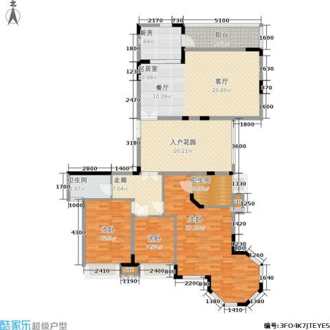 东方威尼斯3室0厅2卫1厨180.00㎡户型图