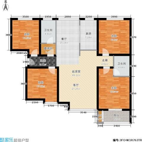 北城山水4室0厅2卫1厨185.00㎡户型图
