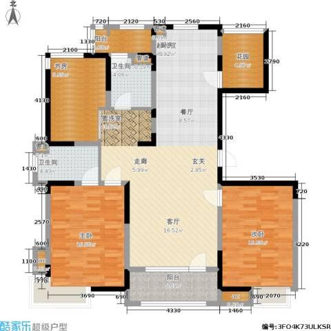 彩凤山城观邸3室0厅2卫0厨128.00㎡户型图
