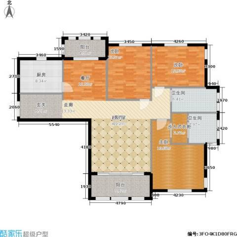 三川御锦台3室0厅2卫1厨143.00㎡户型图