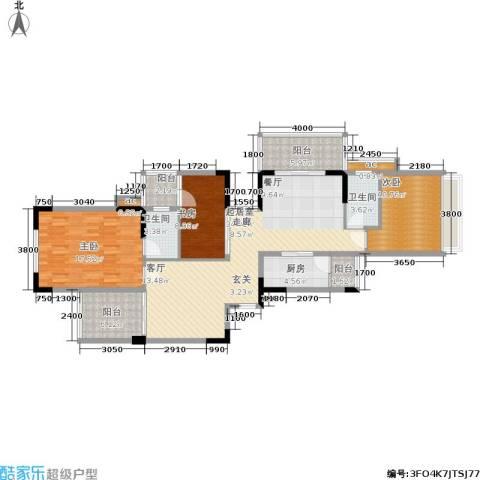 东方威尼斯3室0厅2卫1厨143.00㎡户型图