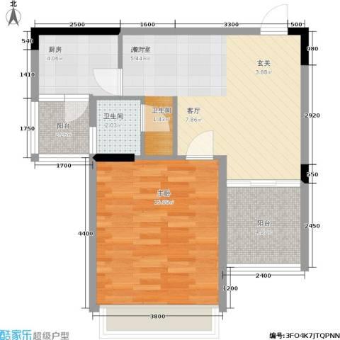 东方威尼斯1室0厅1卫1厨67.00㎡户型图
