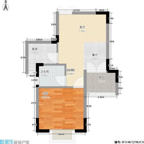 东方威尼斯1室0厅1卫1厨53.00㎡户型图