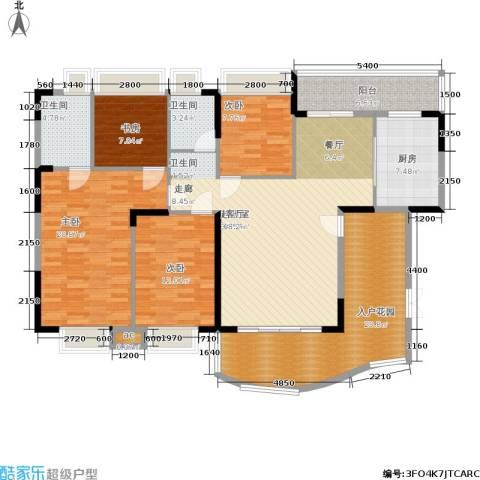 东方威尼斯4室0厅2卫1厨176.00㎡户型图