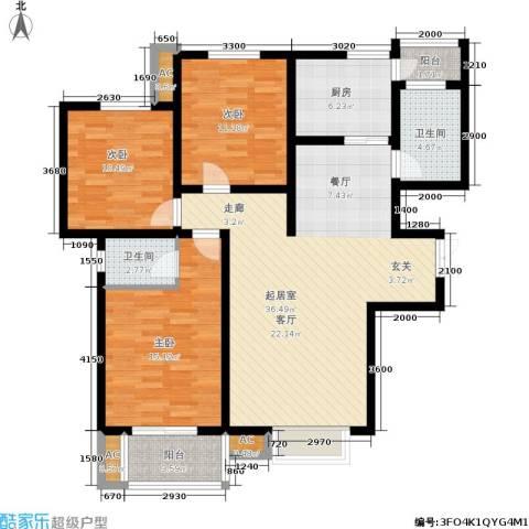 北郡帕提欧3室0厅2卫1厨137.00㎡户型图