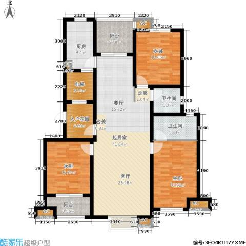 星湖湾3室0厅2卫1厨163.00㎡户型图