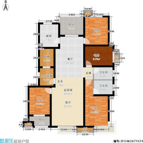 星湖湾4室0厅2卫1厨195.00㎡户型图