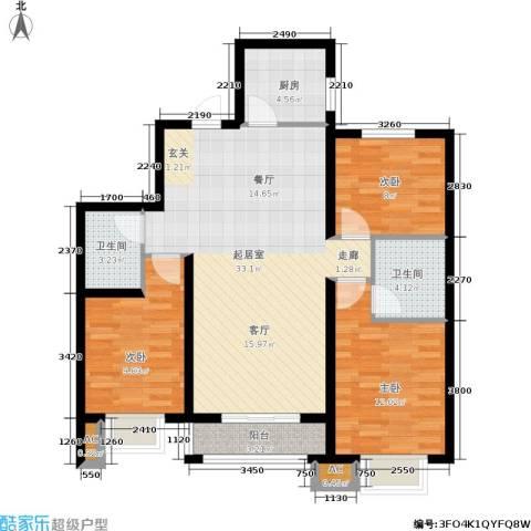 北郡帕提欧3室0厅2卫1厨113.00㎡户型图