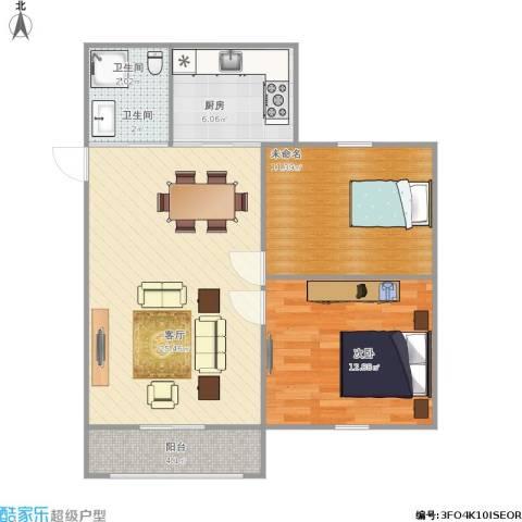万荣小区1室1厅1卫1厨85.00㎡户型图