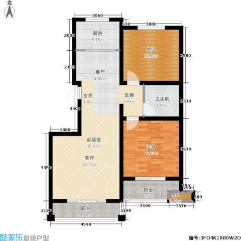 星湖湾2室0厅1卫1厨114.00㎡户型图