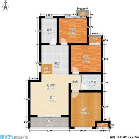 星湖湾3室0厅1卫1厨125.00㎡户型图