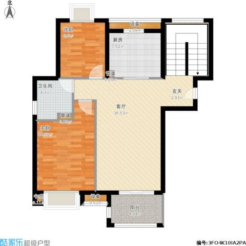 佳兆业1号2室1厅1卫1厨111.00㎡户型图