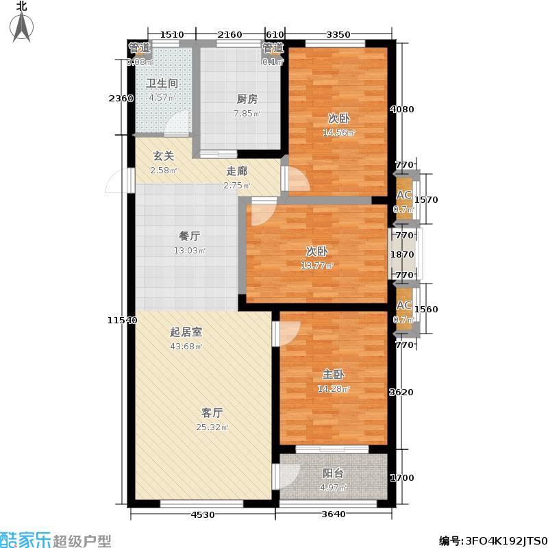 圣基金碧广场二期20、21、22号楼高层B1户型