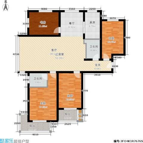 北城山水4室0厅2卫1厨186.00㎡户型图