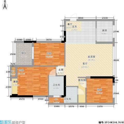 上东曼哈顿3室0厅2卫1厨104.00㎡户型图