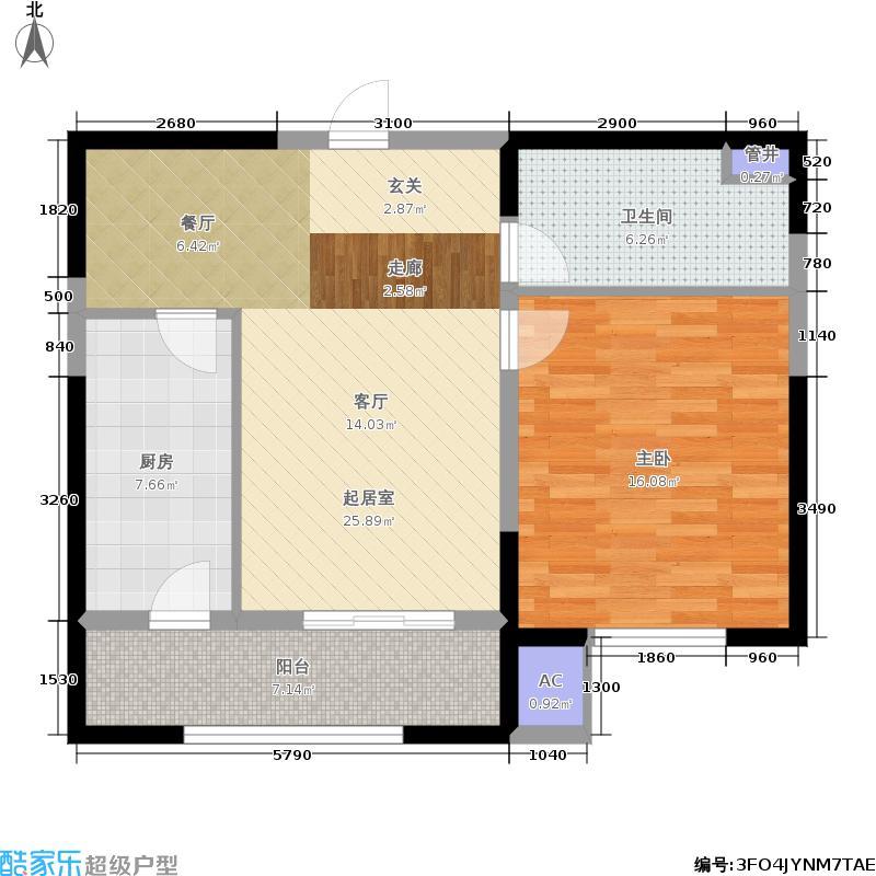 犀地73.00㎡一期6号楼标准层户型