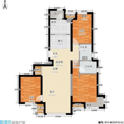 中铁・花溪渡3室0厅2卫1厨129.00㎡户型图