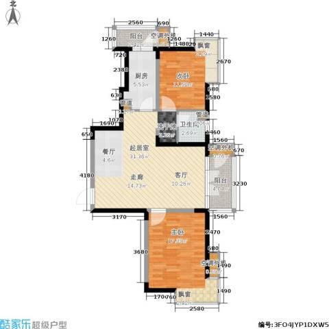 河东万达广场2室0厅1卫1厨106.00㎡户型图
