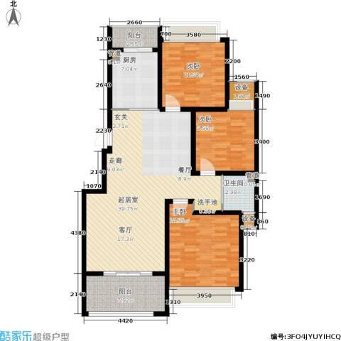 玲珑湾3室0厅1卫1厨113.00㎡户型图