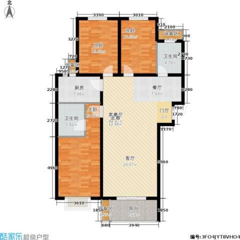 枫林花溪3室1厅2卫1厨135.00㎡户型图