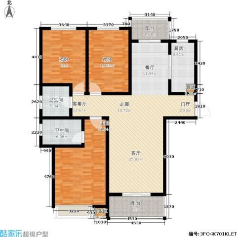 天骄华府3室1厅2卫1厨194.00㎡户型图