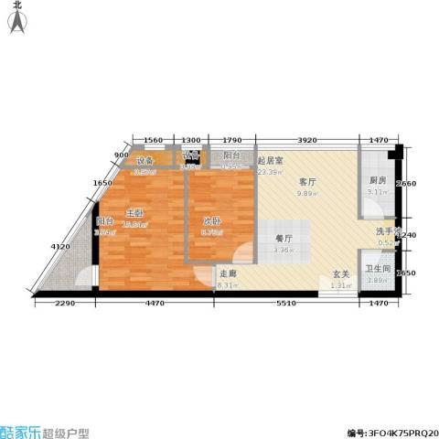 鼎晟金科凯城2室0厅1卫1厨94.00㎡户型图