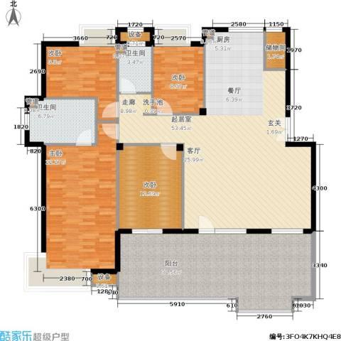 依云小镇4室0厅2卫0厨208.00㎡户型图