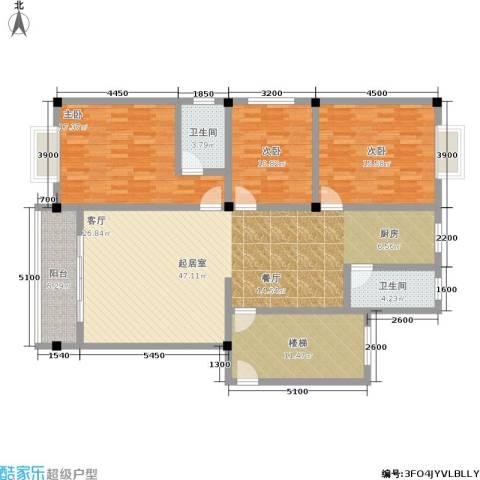 金御华庭3室0厅2卫0厨166.00㎡户型图
