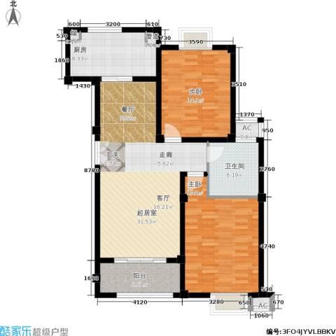 金御华庭2室0厅1卫1厨97.00㎡户型图
