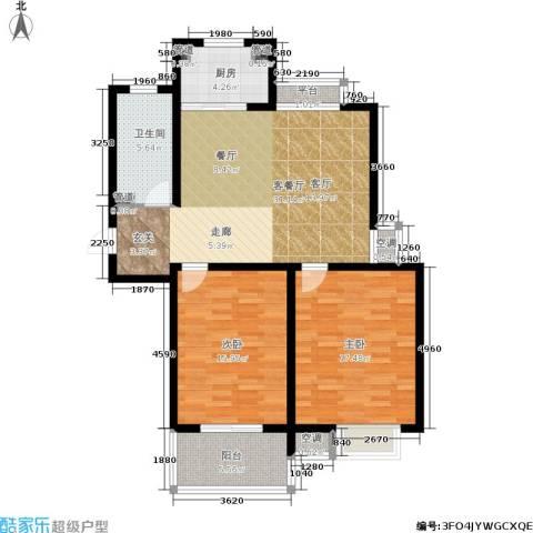 群星苑2室1厅1卫1厨95.00㎡户型图