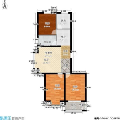 恒益翠芳庭3室1厅1卫1厨111.00㎡户型图