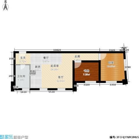 海河新天法桐墅1室0厅1卫0厨60.00㎡户型图