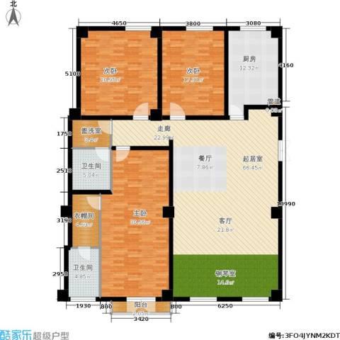 海河新天法桐墅3室0厅2卫1厨232.00㎡户型图