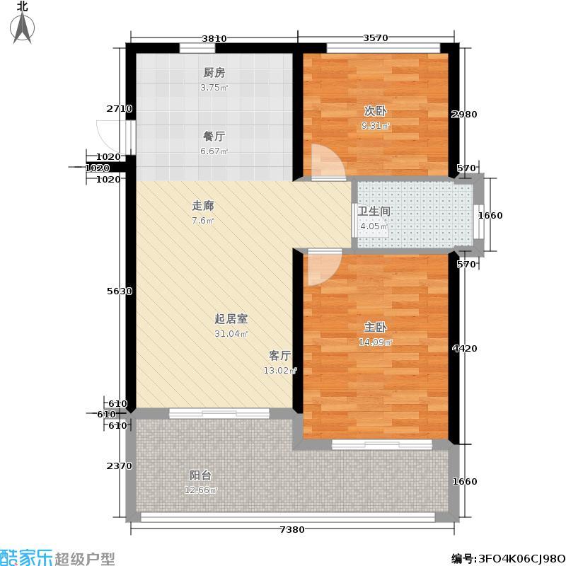 合景·月亮湾80.00㎡合景・月亮湾公寓C户型