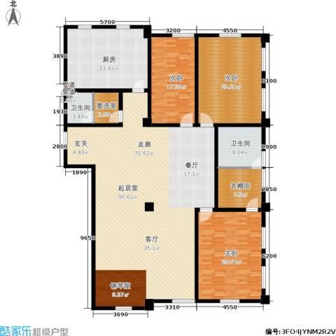 海河新天法桐墅3室0厅2卫1厨288.00㎡户型图
