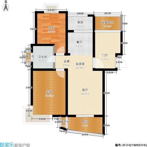 雍合湾2室0厅1卫1厨101.00㎡户型图