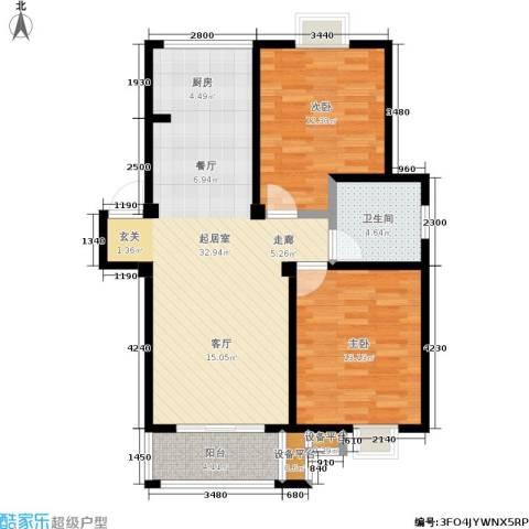 雍合湾2室0厅1卫0厨96.00㎡户型图