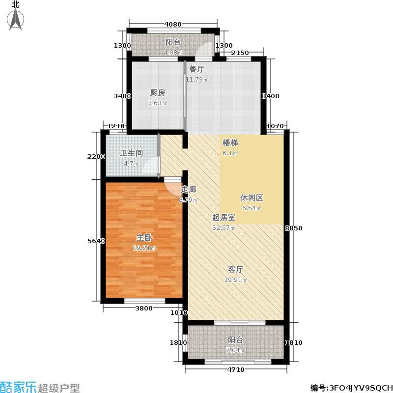 宝业四季园235.00㎡D4一层3阳台户型