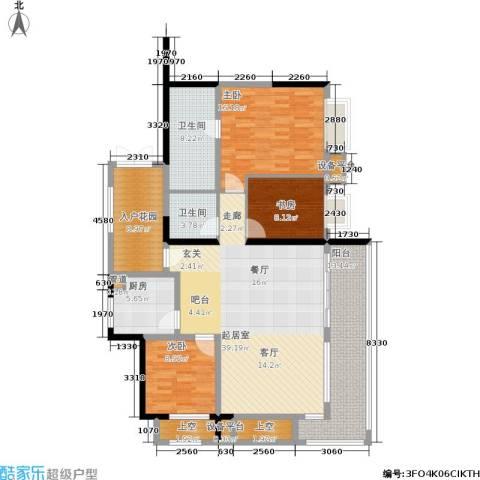 合景·月亮湾3室0厅2卫1厨135.00㎡户型图