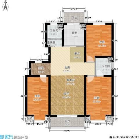 恒益翠芳庭3室1厅2卫1厨132.00㎡户型图