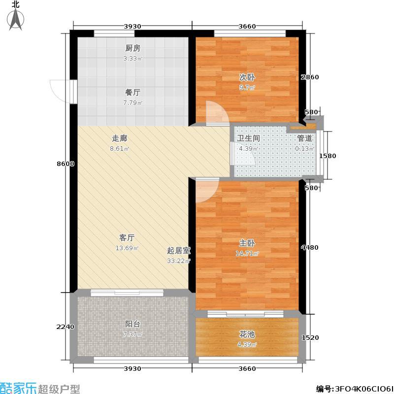 合景·月亮湾82.11㎡合景・月亮湾公寓C户型