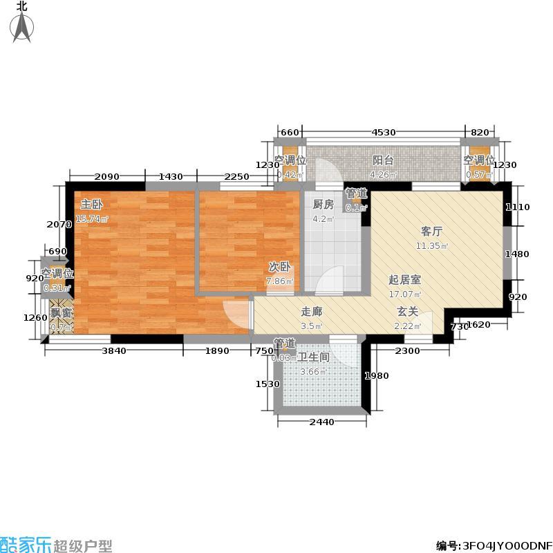 秋怡家园64.17㎡A面积6417m户型