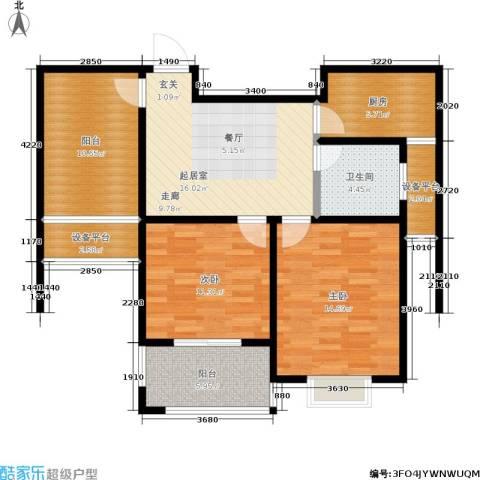 雍合湾2室0厅1卫1厨105.00㎡户型图