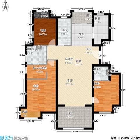 中铁・花溪渡3室0厅3卫1厨165.00㎡户型图