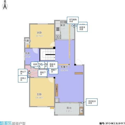 澳海澜庭3室1厅1卫1厨119.00㎡户型图