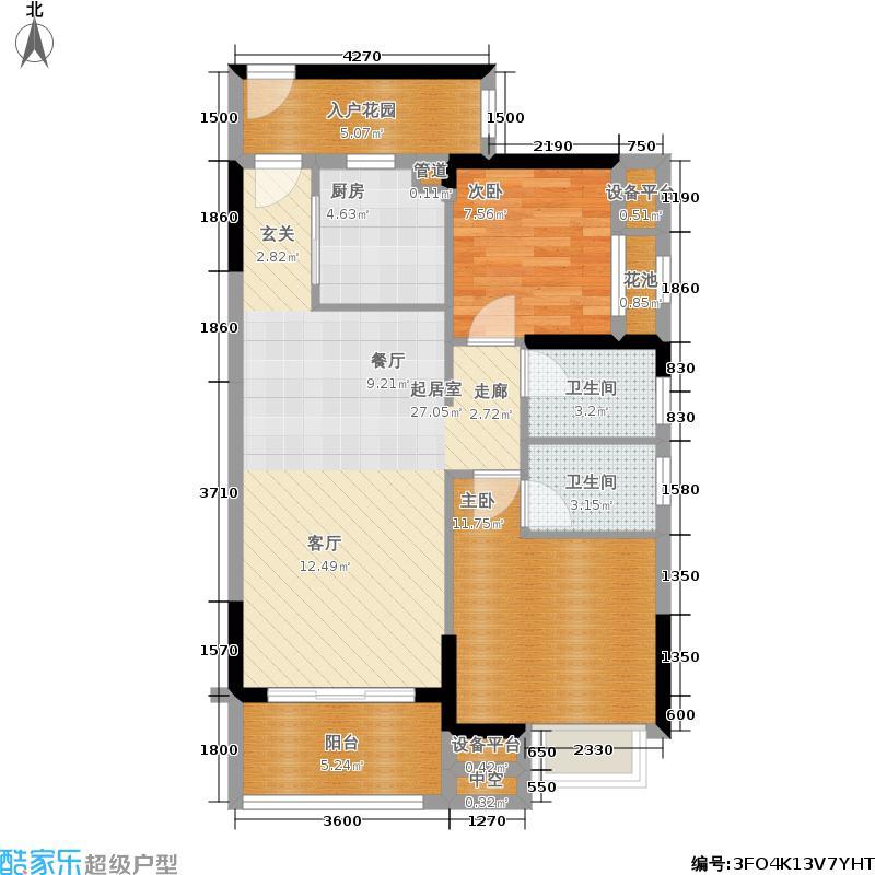 锦龙又一城83.02㎡5-10栋A户型2室2厅