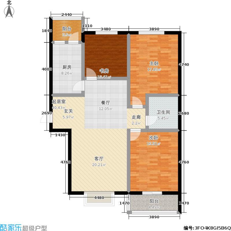 阳光花城121.00㎡三室两厅一厨一卫,建筑面积121㎡户型