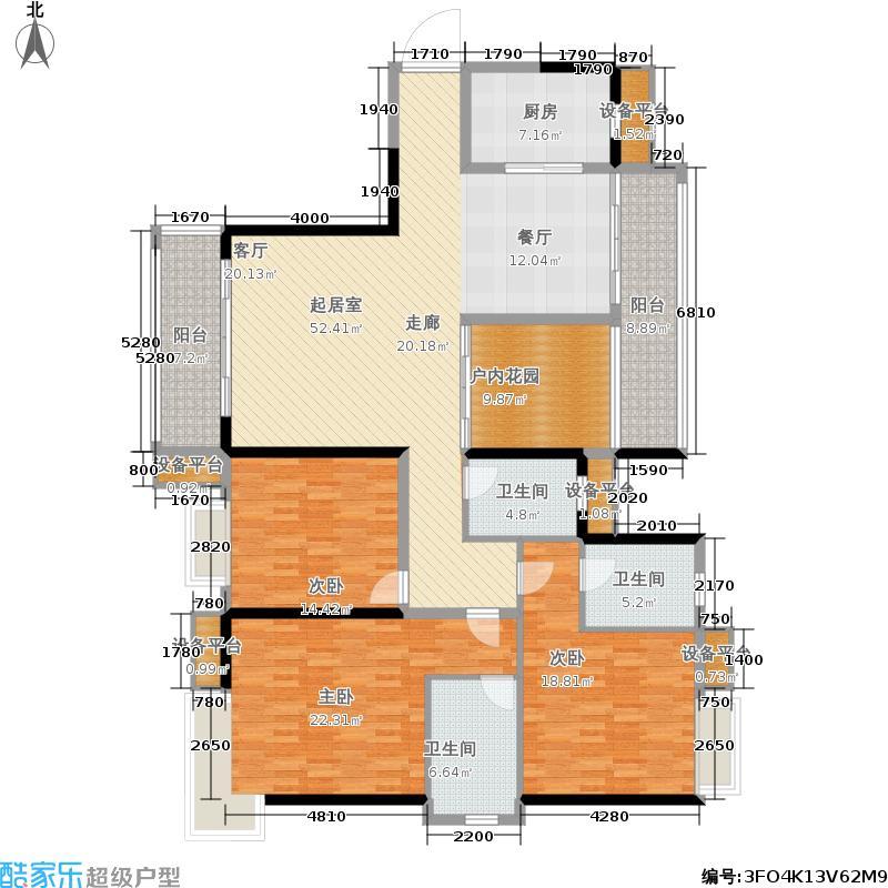 锦龙又一城143.55㎡15-16栋户型4室2厅