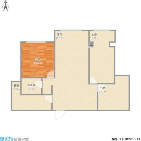 维多利亚广场3室1厅1卫1厨112.00㎡户型图
