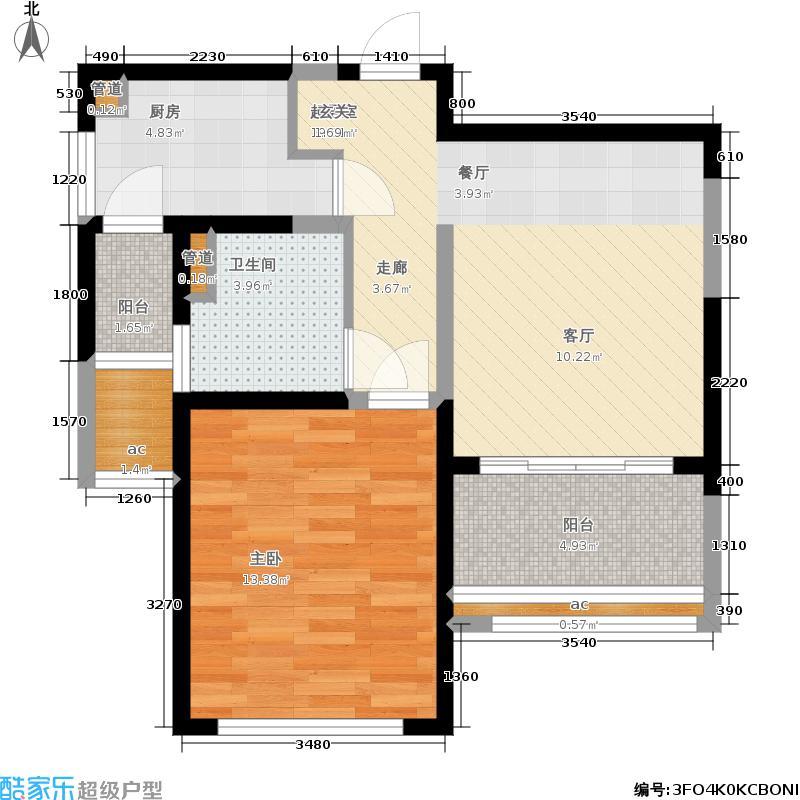 绿地新瑅香公馆61.00㎡绿地新�香公馆D2户型